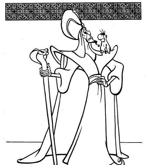 Aladdin da colorare 29