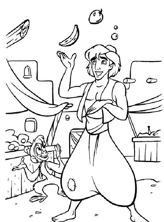 Aladdin da colorare 33