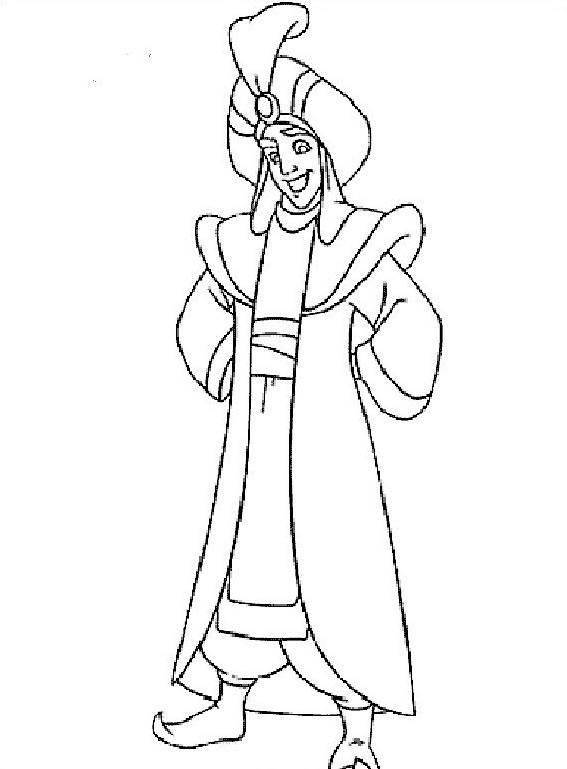 Aladdin da colorare 35
