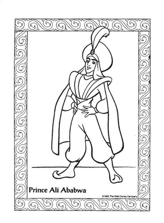 Aladdin da colorare 52