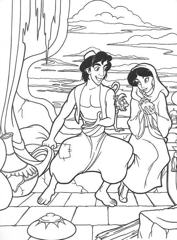 Aladdin da colorare 64