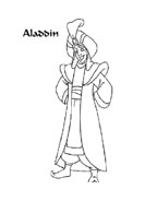 Aladdin da colorare 66