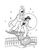 Aladdin da colorare 83