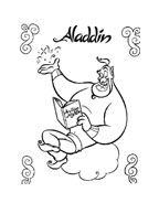 Aladdin da colorare 88