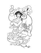 Aladdin da colorare 91