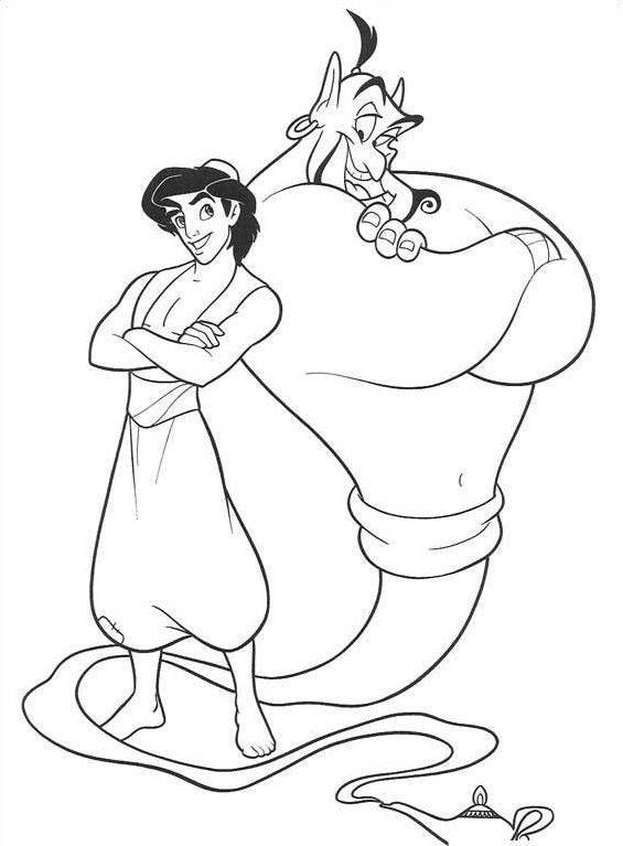 Aladdin da colorare 92