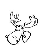 Alce e cervo da colorare 3
