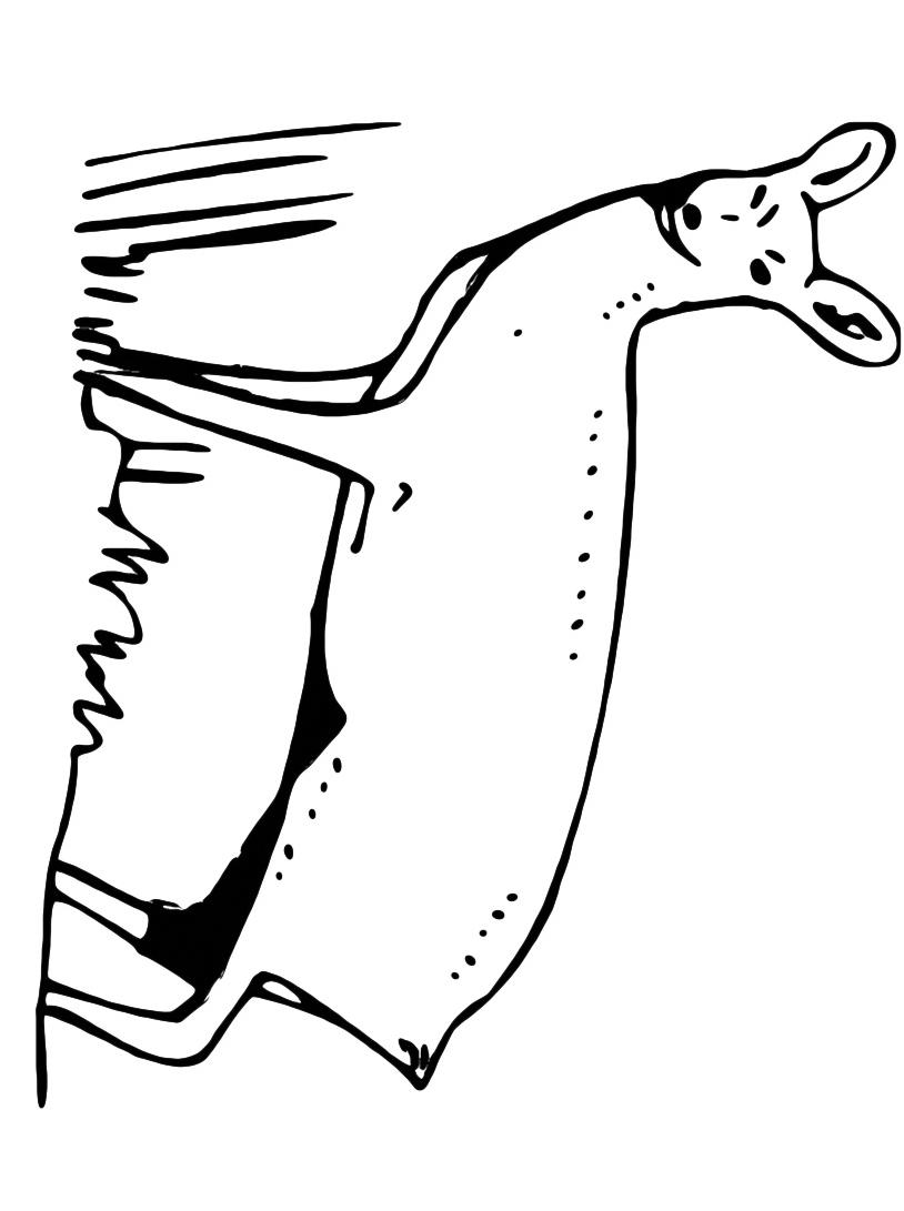 Alce e cervo da colorare 6