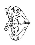 Alce e cervo da colorare 9