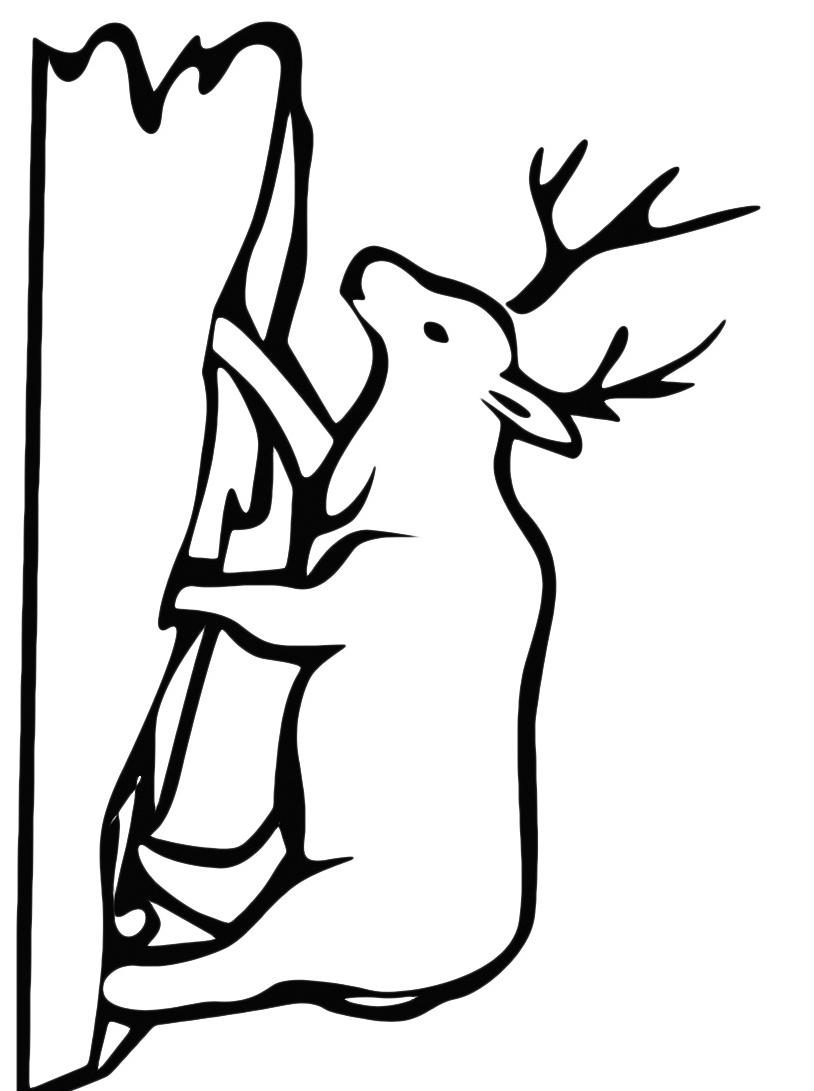 Alce e cervo da colorare 17