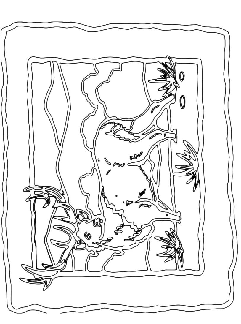 Alce e cervo da colorare 28