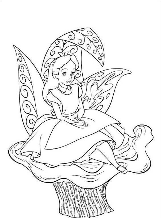 Alice nel paese delle meraviglie da colorare 2