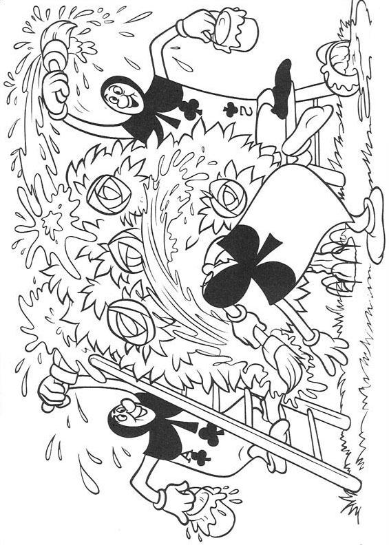 Alice nel paese delle meraviglie da colorare 7