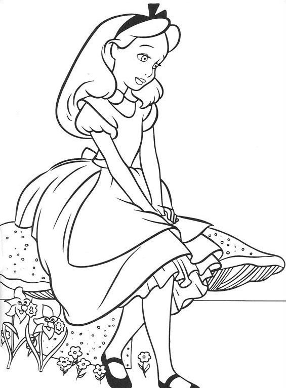 Alice nel paese delle meraviglie da colorare 8