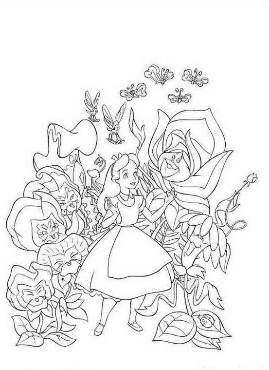 Alice nel paese delle meraviglie da colorare 21