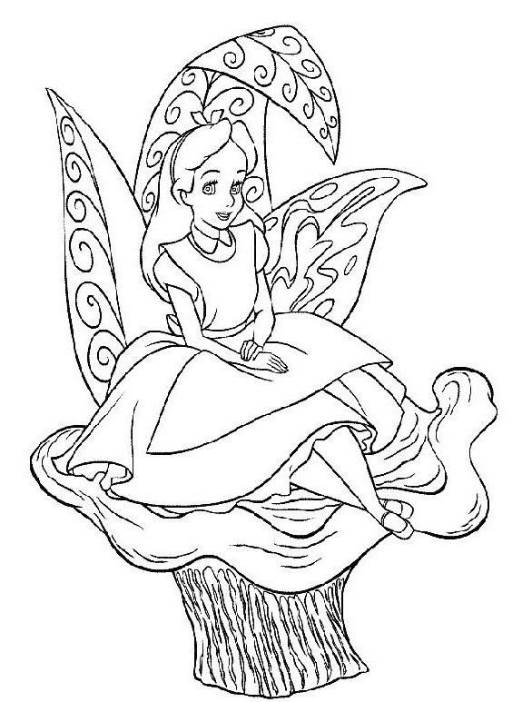 Alice nel paese delle meraviglie da colorare 34