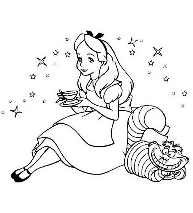 Alice nel paese delle meraviglie da colorare 40