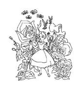 Alice nel paese delle meraviglie da colorare 41