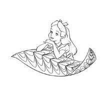 Alice nel paese delle meraviglie da colorare 52