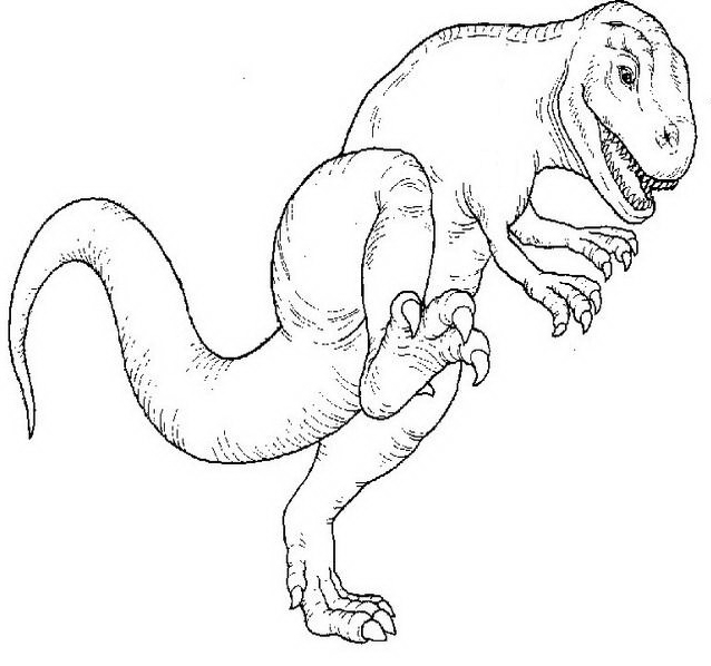 Dinosauro da colorare 7