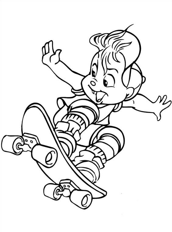 Alvin chipmunk da colorare 2