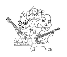 Alvin e i Chipmunks da colorare 8