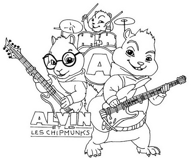 Alvin chipmunk da colorare 8