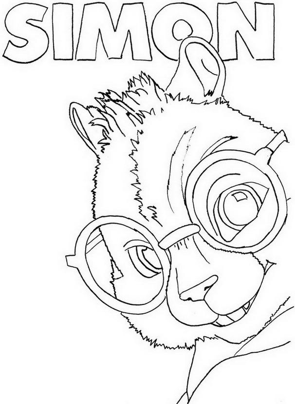 Alvin chipmunk da colorare 14