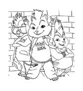 Alvin e i Chipmunks da colorare 15