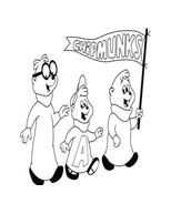 Alvin e i Chipmunks da colorare 32