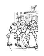 Alvin e i Chipmunks da colorare 39
