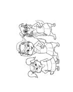Alvin e i Chipmunks da colorare 49