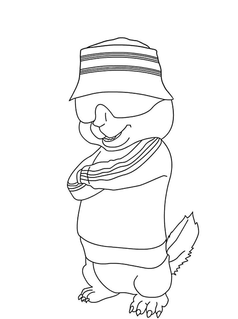 Alvin chipmunk da colorare 52