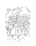 Chicken little – Amici per le penne da colorare 5