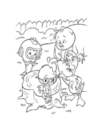 Chicken little – Amici per le penne da colorare 11