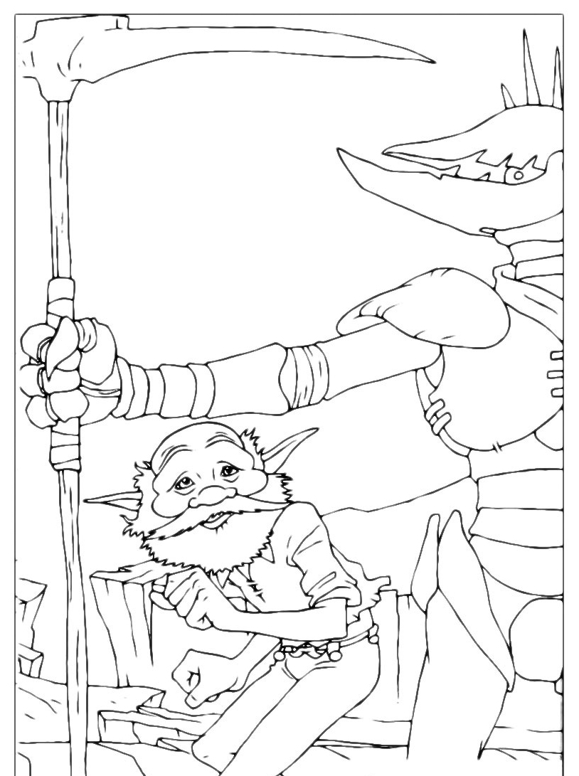 Arthur e minimei da colorare 114
