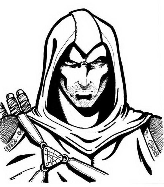 Assassin creed da colorare 10