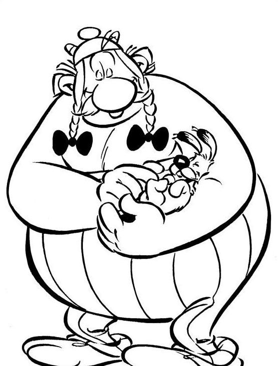 Asterix da colorare 3