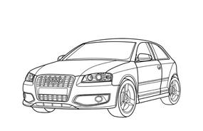 Automobile da colorare 7
