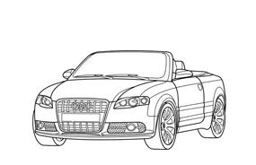 Automobile da colorare 8