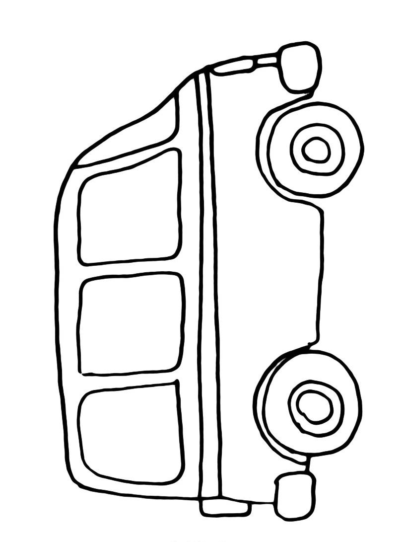 Autobus da colorare 3