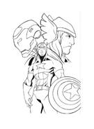 The Avengers da colorare 11