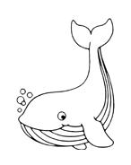 Balena da colorare 28