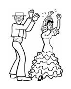 Danza da colorare 27