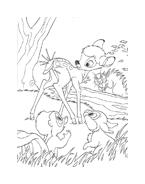 Bambi da colorare 8