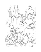 Bambi da colorare 10