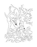 Bambi da colorare 14