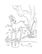 Bambi da colorare 18