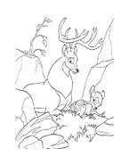 Bambi da colorare 24