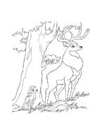 Bambi da colorare 58